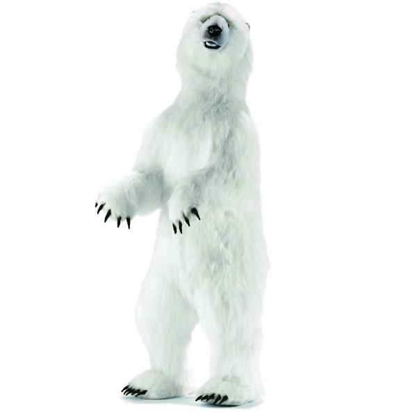 Anima - Peluche ours polaire dresse 150 cm -3650