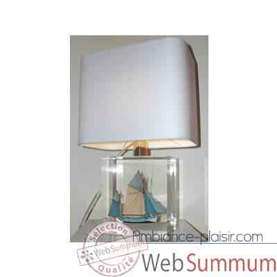 Petite Lampe Rectangle Thonier Gx Bleu Abat-jour Rectangle Bleu Clair-112
