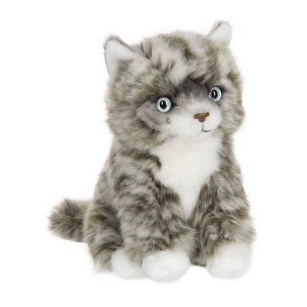 Peluche anna club plush chat american shorthair gris assis - 15 cm ACP -28179014