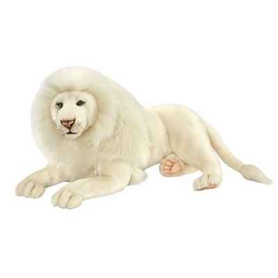 Lion blanc couché 65cml Anima -6364