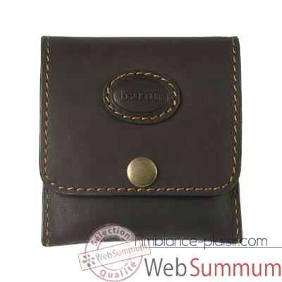 Baron-4027-02-Etui 5 cartouches grande chasse cuir brun.
