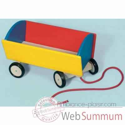Chariot a tirer couleurs Toys Pure -51930