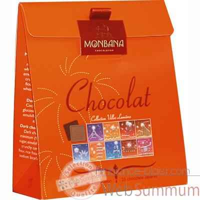 Lot de 6 etuis chocolat Collection Villes Lumieres Monbana -11180052