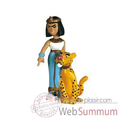 Figurine Cleopatre et sa panthere -60513