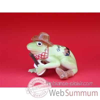 Figurine Grenouille - Fanciful Frogs - Hoppy Trails - 6338