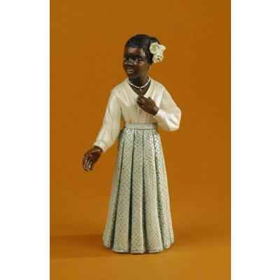 Video Figurine Jazz  La chanteuse en robe blanche - 3183