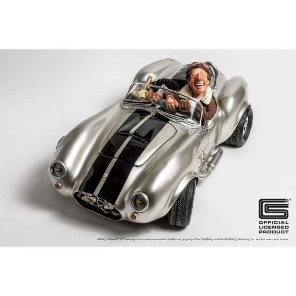 Figurine voiture shelby cobra 427 silver Forchino -FO85082