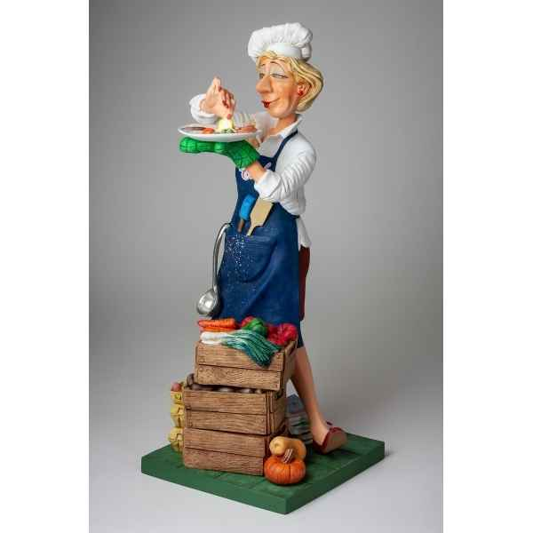 Grande figurine forchino chef cuisiniere collection professions - metiers -FO85549
