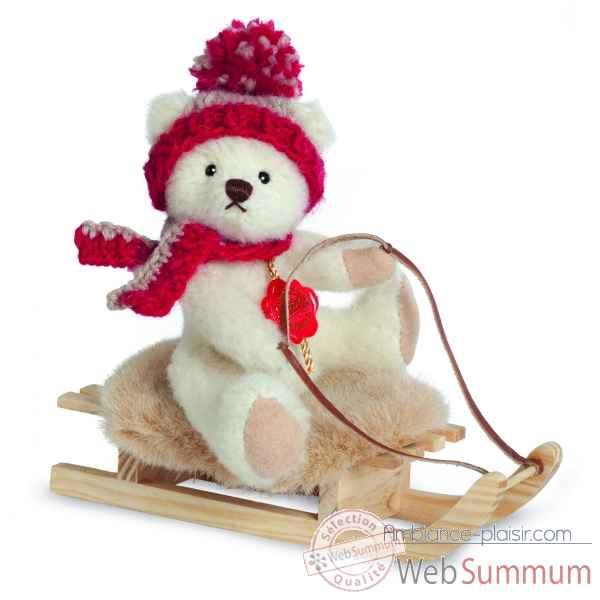 Mini peluche ours teddy sur luge 15 cm collection - ed. limitee Hermann -11707 0