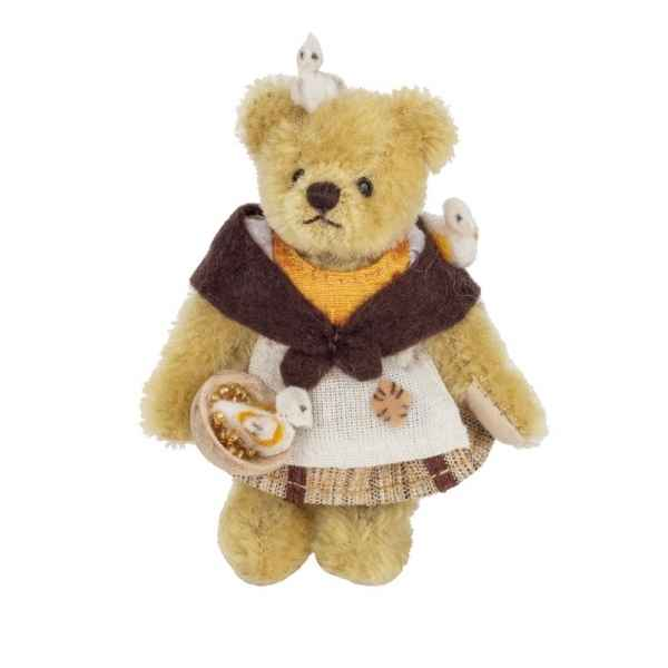 Peluche ourse mohair miniature original hermann teddy cendrillon 10 cm -15478 5