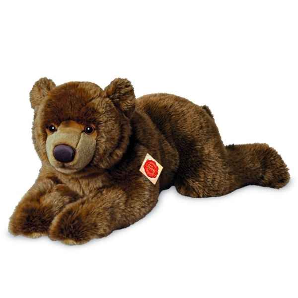 Peluche ours brun couche 60 cm Hermann -91026 8