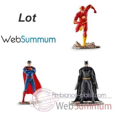 3 héros Justice League Batman Superman et Flash -LWS-295