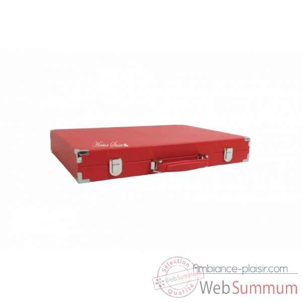 Backgammon basile toile buffle competition rouge -B620-r -10