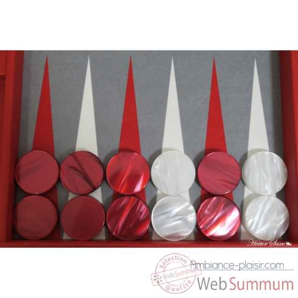Backgammon basile toile buffle competition rouge -B620-r -11