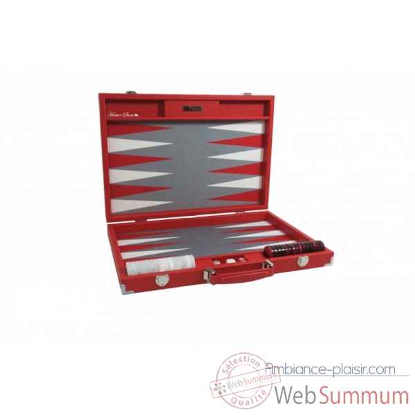 Backgammon basile toile buffle competition rouge -B620-r -8