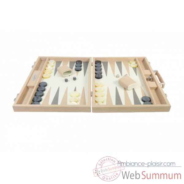 Backgammon camille cuir couture competition poudre -B671L-p -6