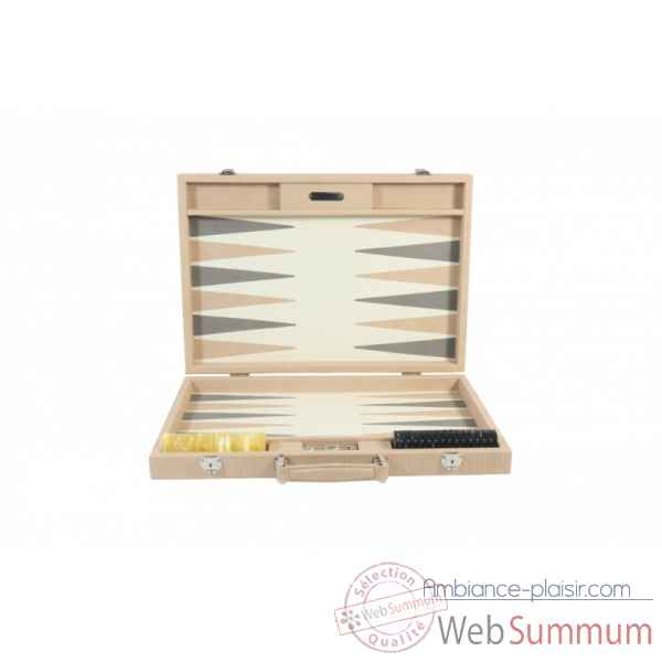 Backgammon camille cuir couture competition poudre -B671L-p -7