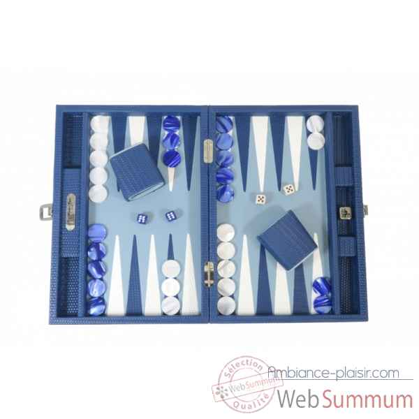 Backgammon camille cuir couture medium gitane -B71L-g