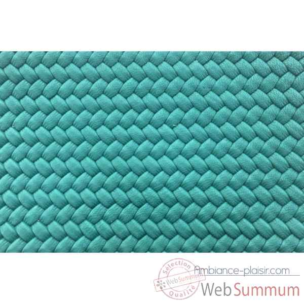 Backgammon camille cuir couture medium turquoise -B71L-tu -8