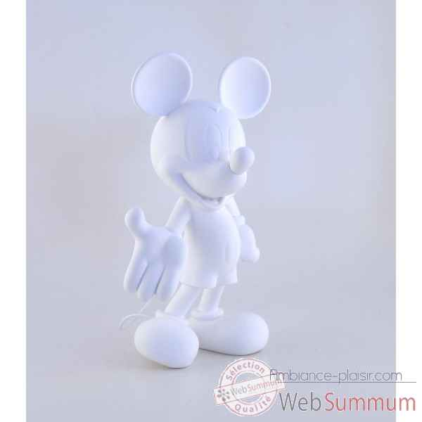 Figurine mickey welcome soft touch blanc Leblon-Delienne -DISST03001SOBC