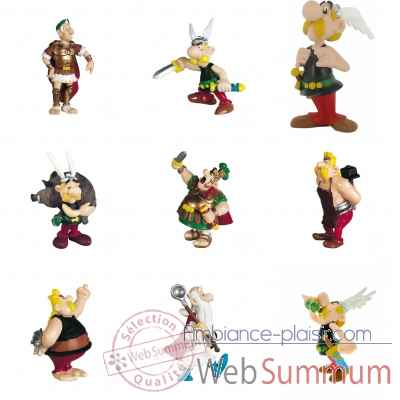 Lot 9 figurines collection Asterix -LWS-415
