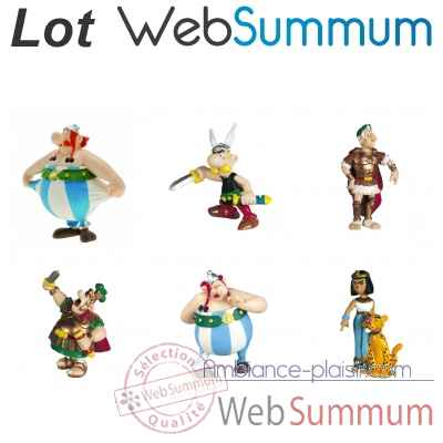 Lot 6 figurines collection Asterix Obelix Cesar Cleopatre Centurion  -LWS-416