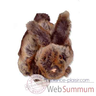 Marionnettes peluche a main - Fabrication France-Lapin beige