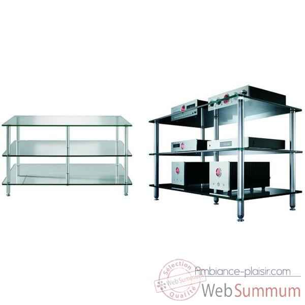 Meuble Audio Video Vincent  Glas 6 - 6 etageres - Verre - 203792