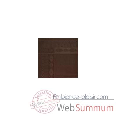 Nappe St Roch rectangulaire Salomee Chocolat -35