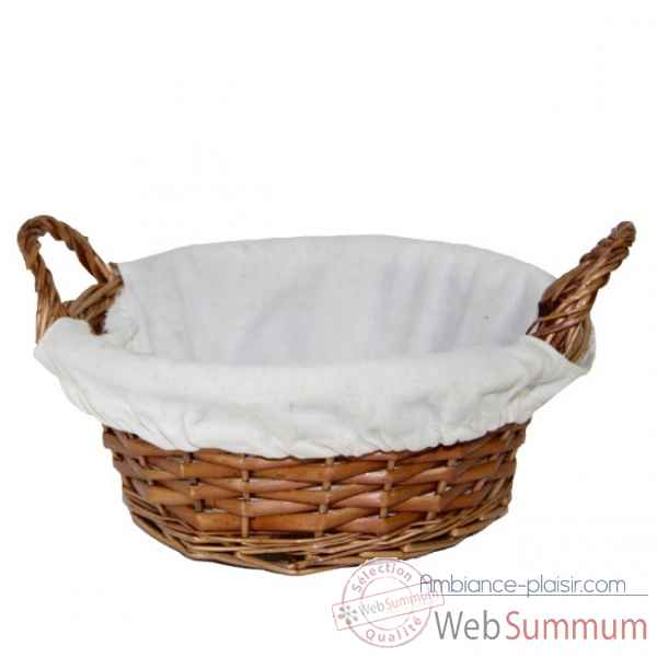 Panier rond naturel Nectarome France -15195W