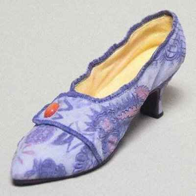 Figurine chaussure miniature collection just the right shoe 1760 - lavish tapestry - rs25087