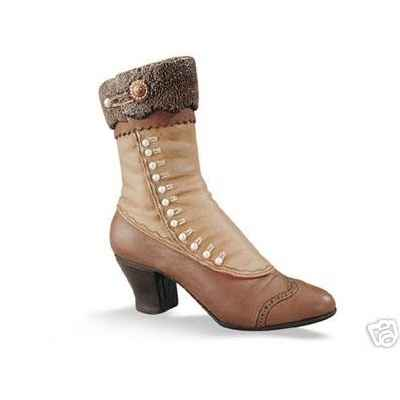 Figurine chaussure miniature collection just the right shoe high-buttoned boot  - rs25034