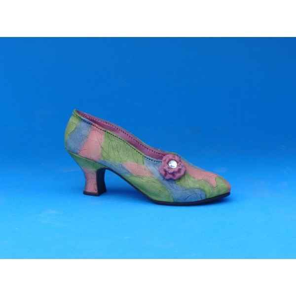 Figurine chaussure miniature collection just the right shoe rose court  - rs25009