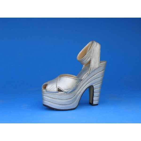 Figurine chaussure miniature collection just the right shoe silver cloud  - rs25007