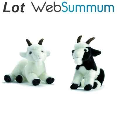 Peluche chevre lot de 2 -LWS-338