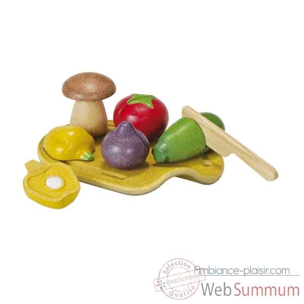 Assortiment de legumes -planwood en bois  Plan Toys -3601