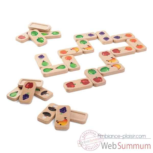 Domino fruits et legumes Plan Toys -5639