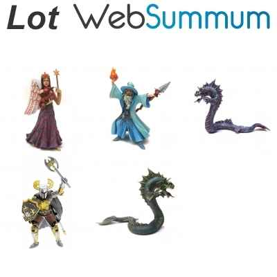 Figurine de collection asterix pile d\'album 2nde edition bd - collectoys -128
