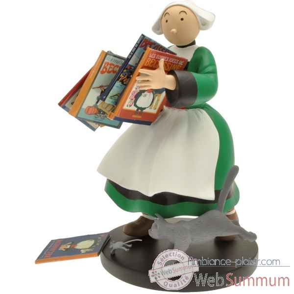 Figurine de collection becassine pile d\'albums bd - collectoys -414