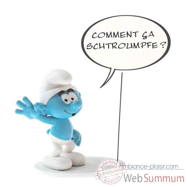 Figurine de collection bulle:comment ca schtroumpf Plastoy -146