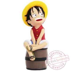 "Tirelire one piece""luffy sur son tonneau"" Plastoy -80035"