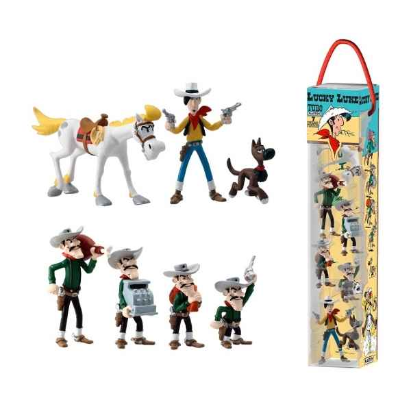 Tubo lucky luke - 7 figurines -70387