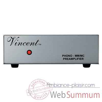 Preamplificateur Vincent PHO-111 Preampli phono MM-MC - Argent - 203326