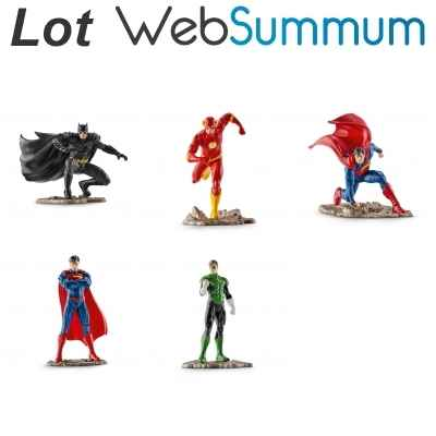 Lot 5 Figurines Super Heros Schleich -LWS-114