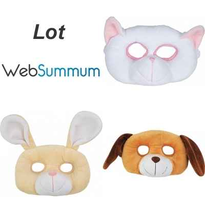 Promotion peluche masque chat chien lapin Histoire d\\\'Ours -LWS-205