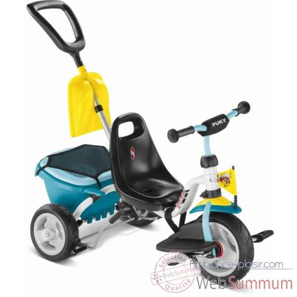 Tricycle pneum blanc-menthe Puky -2437