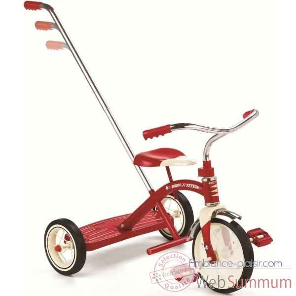 Tricycle classic avec canne Radio Flyer -435