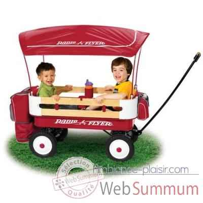 Radio Flyer Chariot biplace deluxe -3600