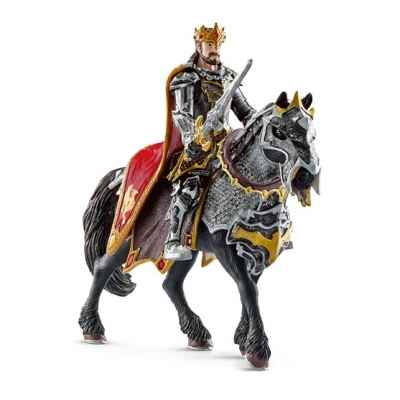 Chevalier dragon roi a cheval schleich -70115