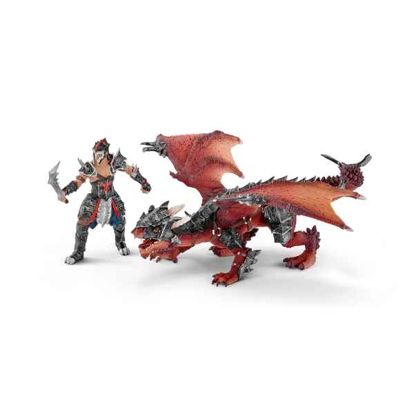 Guerrier avec dragon schleich -70128